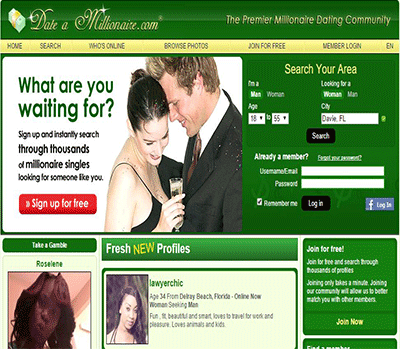 Rich people dating sites