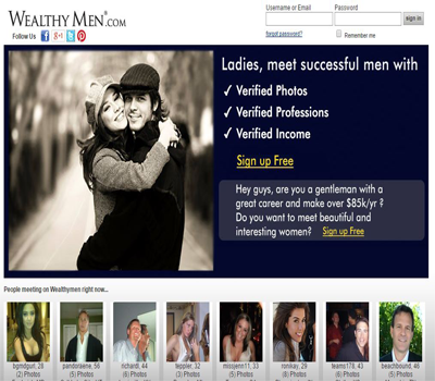 Dating sites for wealthy